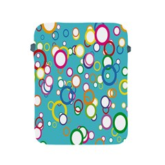 Circles Abstract Color Apple Ipad 2/3/4 Protective Soft Cases by Simbadda