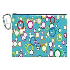 Circles Abstract Color Canvas Cosmetic Bag (xxl) by Simbadda