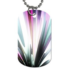Flower Petals Abstract Background Wallpaper Dog Tag (two Sides) by Simbadda