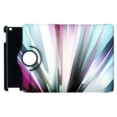 Flower Petals Abstract Background Wallpaper Apple Ipad 2 Flip 360 Case by Simbadda