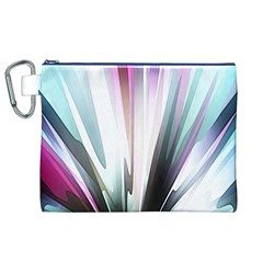 Flower Petals Abstract Background Wallpaper Canvas Cosmetic Bag (xl) by Simbadda