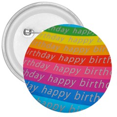 Colorful Happy Birthday Wallpaper 3  Buttons by Simbadda