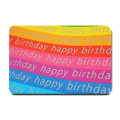Colorful Happy Birthday Wallpaper Small Doormat  by Simbadda