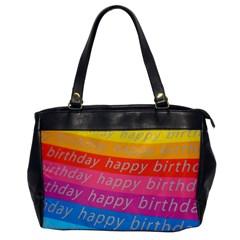 Colorful Happy Birthday Wallpaper Office Handbags by Simbadda