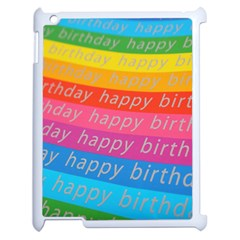 Colorful Happy Birthday Wallpaper Apple Ipad 2 Case (white) by Simbadda