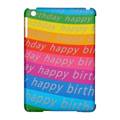 Colorful Happy Birthday Wallpaper Apple Ipad Mini Hardshell Case (compatible With Smart Cover) by Simbadda