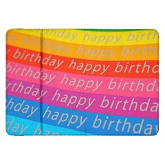 Colorful Happy Birthday Wallpaper Samsung Galaxy Tab 8 9  P7300 Flip Case by Simbadda
