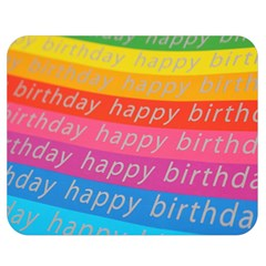 Colorful Happy Birthday Wallpaper Double Sided Flano Blanket (medium)  by Simbadda