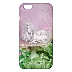 Wonderful Unicorn With Foal On A Mushroom Iphone 6 Plus/6s Plus Tpu Case by FantasyWorld7