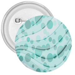 Abstract Background Teal Bubbles Abstract Background Of Waves Curves And Bubbles In Teal Green 3  Buttons by Simbadda