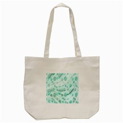 Abstract Background Teal Bubbles Abstract Background Of Waves Curves And Bubbles In Teal Green Tote Bag (cream) by Simbadda