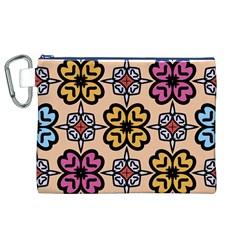 Abstract Seamless Background Pattern Canvas Cosmetic Bag (xl) by Simbadda