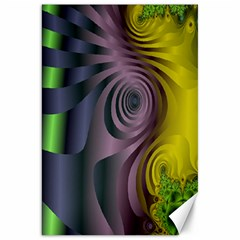 Fractal In Purple Gold And Green Canvas 20  X 30   by Simbadda