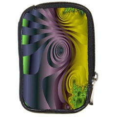 Fractal In Purple Gold And Green Compact Camera Cases by Simbadda