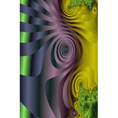 Fractal In Purple Gold And Green 5 5  X 8 5  Notebooks by Simbadda