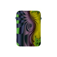 Fractal In Purple Gold And Green Apple Ipad Mini Protective Soft Cases by Simbadda