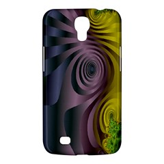 Fractal In Purple Gold And Green Samsung Galaxy Mega 6 3  I9200 Hardshell Case by Simbadda