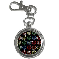 Happy Birthday Colorful Wallpaper Background Key Chain Watches by Simbadda