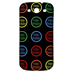 Happy Birthday Colorful Wallpaper Background Samsung Galaxy S3 S Iii Classic Hardshell Back Case by Simbadda