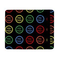 Happy Birthday Colorful Wallpaper Background Samsung Galaxy Tab Pro 8 4  Flip Case by Simbadda