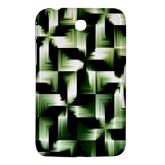 Green Black And White Abstract Background Of Squares Samsung Galaxy Tab 3 (7 ) P3200 Hardshell Case  by Simbadda