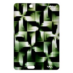 Green Black And White Abstract Background Of Squares Amazon Kindle Fire Hd (2013) Hardshell Case by Simbadda