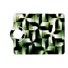 Green Black And White Abstract Background Of Squares Kindle Fire Hd (2013) Flip 360 Case by Simbadda