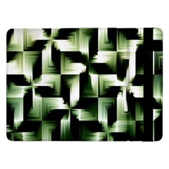 Green Black And White Abstract Background Of Squares Samsung Galaxy Tab Pro 12 2  Flip Case by Simbadda