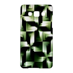 Green Black And White Abstract Background Of Squares Samsung Galaxy A5 Hardshell Case  by Simbadda