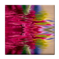 Abstract Pink Colorful Water Background Tile Coasters by Simbadda