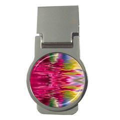 Abstract Pink Colorful Water Background Money Clips (round)  by Simbadda