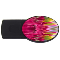 Abstract Pink Colorful Water Background Usb Flash Drive Oval (4 Gb) by Simbadda