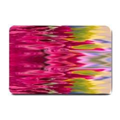 Abstract Pink Colorful Water Background Small Doormat  by Simbadda