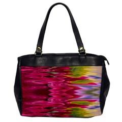 Abstract Pink Colorful Water Background Office Handbags by Simbadda