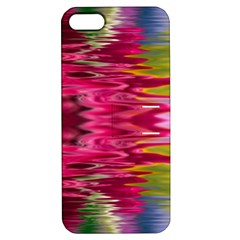 Abstract Pink Colorful Water Background Apple Iphone 5 Hardshell Case With Stand by Simbadda