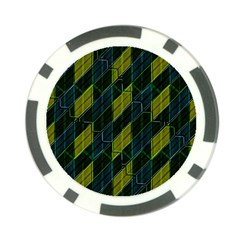 Futuristic Dark Pattern Poker Chip Card Guard by dflcprints
