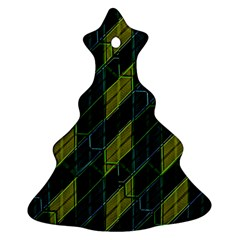 Futuristic Dark Pattern Christmas Tree Ornament (two Sides) by dflcprints