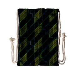 Futuristic Dark Pattern Drawstring Bag (small) by dflcprints