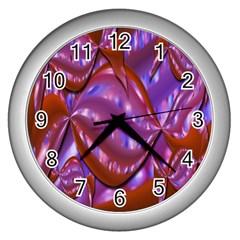 Passion Candy Sensual Abstract Wall Clocks (silver)  by Simbadda