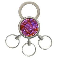 Passion Candy Sensual Abstract 3 Ring Key Chains by Simbadda