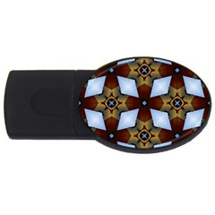 Abstract Seamless Background Pattern Usb Flash Drive Oval (4 Gb)