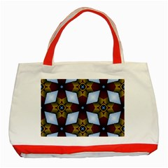 Abstract Seamless Background Pattern Classic Tote Bag (red) by Simbadda
