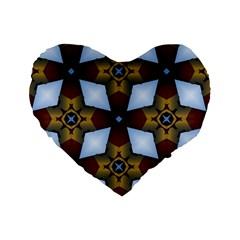 Abstract Seamless Background Pattern Standard 16  Premium Heart Shape Cushions by Simbadda