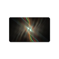 Colorful Waves With Lights Abstract Multicolor Waves With Bright Lights Background Magnet (name Card) by Simbadda