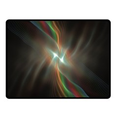 Colorful Waves With Lights Abstract Multicolor Waves With Bright Lights Background Fleece Blanket (small) by Simbadda