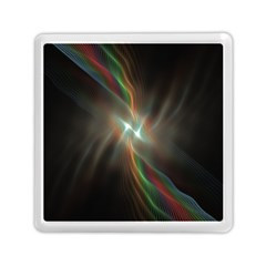 Colorful Waves With Lights Abstract Multicolor Waves With Bright Lights Background Memory Card Reader (square)  by Simbadda
