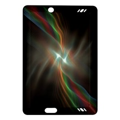 Colorful Waves With Lights Abstract Multicolor Waves With Bright Lights Background Amazon Kindle Fire Hd (2013) Hardshell Case by Simbadda