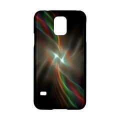 Colorful Waves With Lights Abstract Multicolor Waves With Bright Lights Background Samsung Galaxy S5 Hardshell Case  by Simbadda