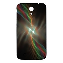 Colorful Waves With Lights Abstract Multicolor Waves With Bright Lights Background Samsung Galaxy Mega I9200 Hardshell Back Case by Simbadda