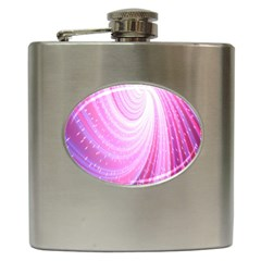 Vortexglow Abstract Background Wallpaper Hip Flask (6 Oz) by Simbadda